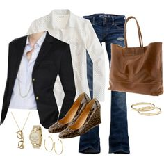 """dots & cashmere blazer"" by shopwithm on Polyvore"