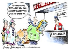 Dave Granlund on the annual gift return.