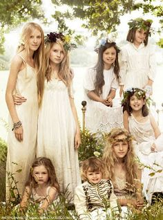 Westie, Art & Garden: Girls Cotton and Linen Dresses with Lace