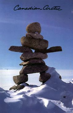 Inukshuk serve as Inuit signposts in the Canadian Arctic, and mark the highest point of land to aid in navigation or to assist in hunting, while some serve as sight lines to important and powerful places beyond the horizon. Some inuksuit (singular) have been standing for centuries, most likely longer; the Inuit, who have lived in Nunatsiaq (the beautiful land) for over 4000 years believed that these figures were built at the time of their earliest ancestors.