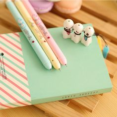 Each of these Ghosties Gel Pens have an unforgettable expression on them! They are the cutest little ghosts in town. These ghosties are easy to write with with an extra fine tip point, and its cute ro