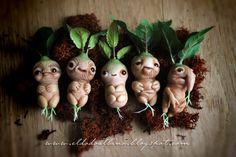 OOAK Mandrake art doll. by dodoalbino on @DeviantArt