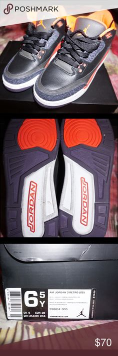 Retro Jordan 3s Girl's Jordan Retro 3s • Kid's size 6.5, fits Women's 8.5 • Worn twice Jordan Shoes Sneakers
