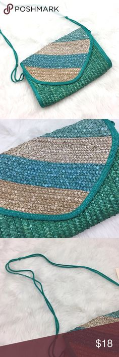 Forever 21 Turquoise Blue Straw Weave Crossbody Forever 21 NWT Turquoise Blue Straw Weave Crossbody Purse  This is new with tags.  This has never been worn. Please refer to photos for more details. Forever 21 Bags Crossbody Bags