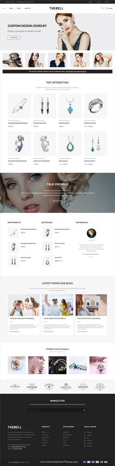 Thebell is clean and modern design 4in1 responsive #Prestashop theme for stunning #jewelry, fashion store #eCommerce website to live preview & download click on image or Visit  #webdev
