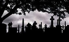 Beautiful graveyard silhouette ::By Mr. Mark::