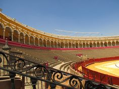 Seville, Spain, Interior of bullfighting arena