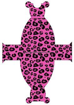 Cajitas imprimibles pantera en rosa.