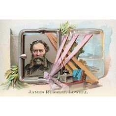 Buyenlarge 'James Russell Lowell' by Sweet Home Family Soap Painting Print