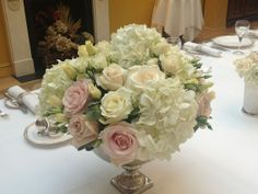 Flower Bowl with flowers | Wedding flowers table centre at the Lanesborough