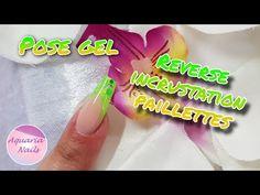 Ongle en gel sur chablon | French reverse incrustation de paillettes - YouTube Aquarium Nails, Poses, Glitter, Ongles, Figure Poses