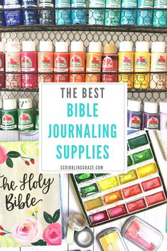 The Best Bible Journaling Supplies- It can be hard to know which supplies are best to prevent bleed-through and damage to the thin Bible Pages! After lots of trial and error, I finally have my list down!