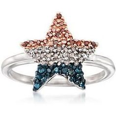 Bradford Exchange Red White Blue Ring