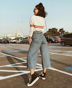 Look for less fashion week suit set by michelle take aim aim fashion michelle set suit watches week 16 trendy autumn street style outfits for 2018 Edgy Outfits, Casual Summer Outfits, Mode Outfits, Retro Outfits, Outfits For Teens, Vintage Outfits, Girl Outfits, Black Converse Outfits, Denim Converse