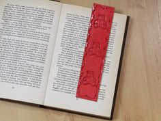 Teddy Bear Bookmark Hand Tooled Leather by TinasLeatherCrafts. Repin To Remember.