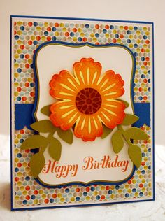 handmade card by Sleepy in Seattle: Mixed Bunch Birthday card ... luv the shading and coloring on this card ... Stampin' Up!