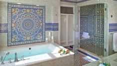 Salle de bain marocaine marbre