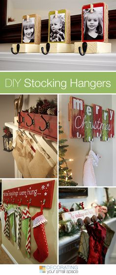 DIY Stocking Hangers • Projects and Tutorials! A great round-up of christmas stocking holders from around the web.