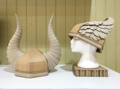 Cardboard Viking helmets by Zygote Brown