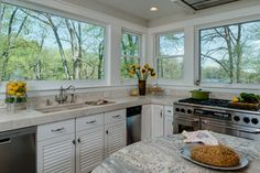 Would love to cook in a kitchen filled with natural light.  Cooking With Creekside Views in Maryland