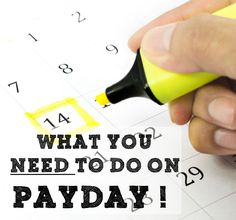 Payday!! How do you handle your money? There are some pretty important steps to take if you want to make the most out of your money.