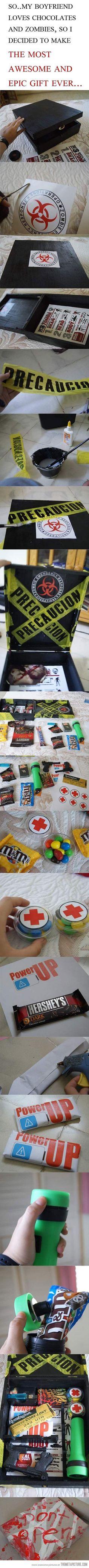 Best Zombie Apocalypse Gift ever! (Fazer com 1s socorros (tipo pensos alcool)em vez de doces