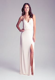 Long Surplice Studded Gown