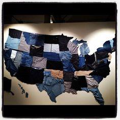 Gap's united states of denim display. so proud