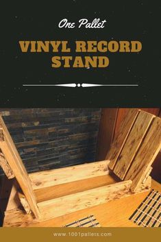 One of my first projects out of pallets. I was asked about the Records stand which would hold at least 50 Vinyl Records. So I've done the research, went through some example ideas and came out with this solution. Since then I became addicted to the pallets crafts. #LivingRoom, #PalletShelves, #RecyclingWoodPallets #PalletShelvesPalletCoatHangers