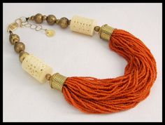 VINTAGE Asie  perles de verre Vintage  OS par sandrawebsterjewelry