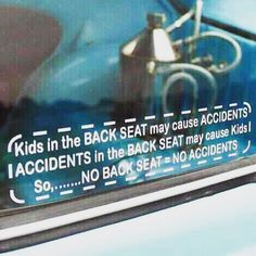 Kids in the BACK SEAT may cause ACCIDENTS ACCIDENTS in the BACK SEAT may cause Kids So........ NO BACK SEAT = NO ACCIDENTS NEW STOCK #nobackseats #driftstickers #drifter #mx5 #rx7 #ft86 #miata #driftcar #sportscar #twodoor #jdm #hype #