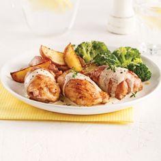 Hauts de cuisses de poulet, sauce crémeuse au citron - Soupers de semaine - Recettes 5-15 - Recettes express 5/15 - Pratico Pratique