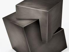 HOLLY HUNT, Pyrite side table, designed by Stefan Gulassa