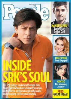 Shah Rukh Khan on the cover of People Magazine July 2012