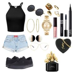 """Untitled #227"" by sdesir on Polyvore featuring Vans, Bling Jewelry, Michael Kors, NARS Cosmetics, Christian Dior, Laura Mercier, Gucci, Yves Saint Laurent and Marc Jacobs"