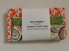 Eco-friendly reusable snack bag tutorial!  I need to make these!