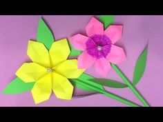 How to Make Origami Flower with Paper | Making Paper Flowers Step by Step | DIY-Paper Crafts - YouTube