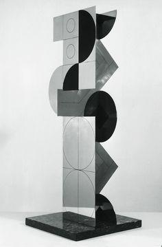Roland Cabot exposition collection sculptures acier peint