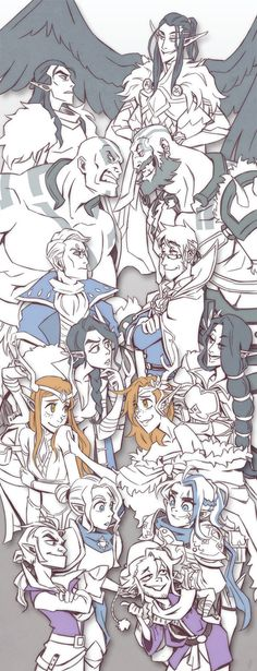 Vox Machina - Start to Finish (Critical Role) : Vox Machina - Start to Finish (Critical Role) Critical Role Comic, Critical Role Characters, Critical Role Campaign 2, Critical Role Fan Art, Dnd Characters, Dungeons And Dragons Memes, Dnd Funny, Dnd Art, Character Design Inspiration