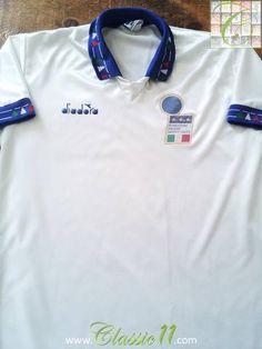 Relive Italy's 1992/1993 international season with this original Diadora away football shirt.