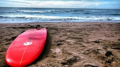 Red Surf Board