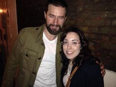 """""""Big plus of the evening: meeting the legend and super lovely #RichardArmitage . My face is one of bewilderment """":D"""