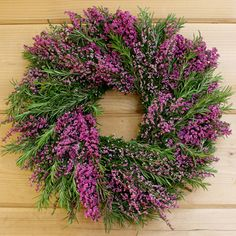 Rosemary and Heather Wreath 14""