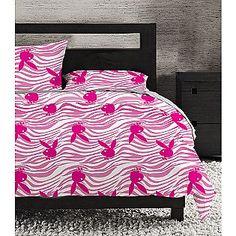 Playboy Microfiber Queen Comforter set-Big Wild Bunny-