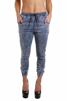 Red Fox Women's Acid Wash Jogger Pants $26