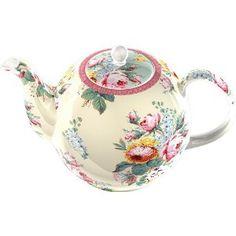 V & A 'Victoria' Fine China 6 Cup Teapot