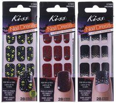 wicked halloween nail stickers kiss nail dress in dark designs