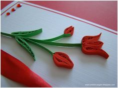 thanksgiving quilling | And a close up of my fragile tulip:) The stems are made with doubled ...