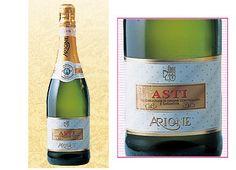 Asti Spumante Arione: スパークリング白・マスカット風味・甘め・酸味あり・イタリア。甘めでもおいしい!