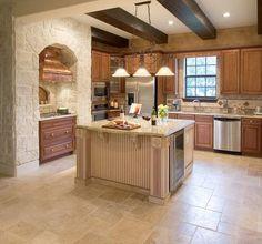 Beige Eclectic Kitchen - Beautiful, Efficient Kitchen Design and Layout Ideas on HGTV